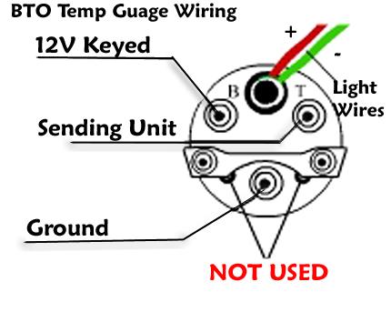 TEMP Race Car Gauge Wiring Diagram on